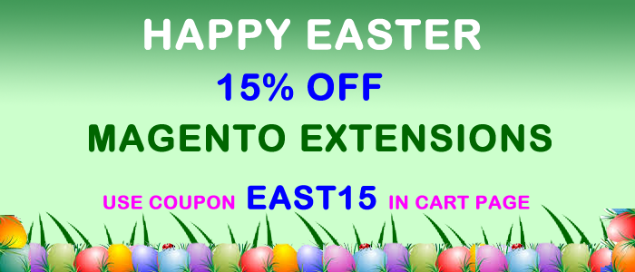 Easter offer 15% on magento extensions