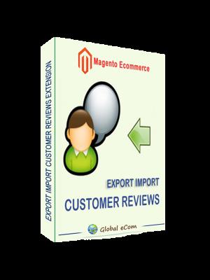 Magento import customer reviews extension